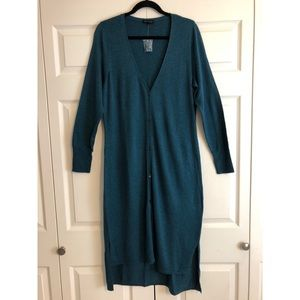 H by Halston hi-low duster cardigan.